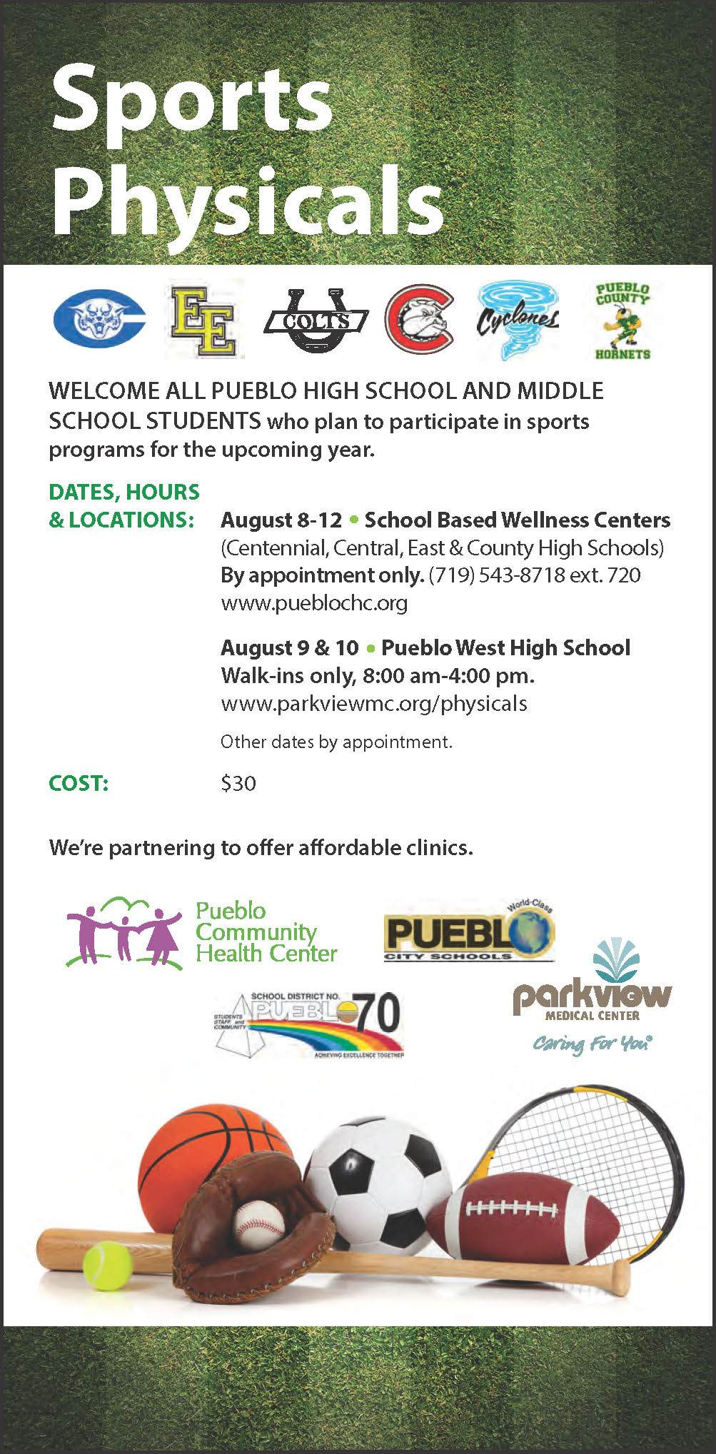 Sports physicals 2016