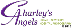Charley's Angels premier newborn hospital photography.